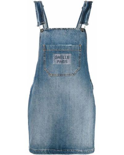 Юбка мини короткая - синяя Gaelle Bonheur