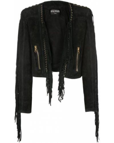 Куртка черная хлопковая Balmain