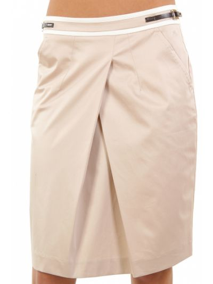 Хлопковая юбка - бежевая Cerruti 18crr81