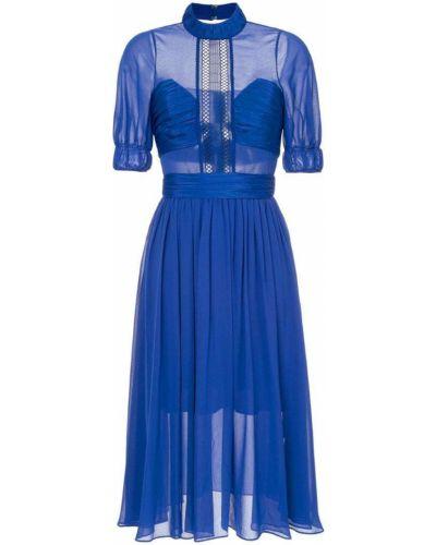Синее платье шифоновое Self-portrait