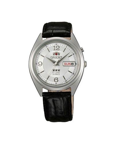 Часы с кожаным ремешком водонепроницаемые механические Orient