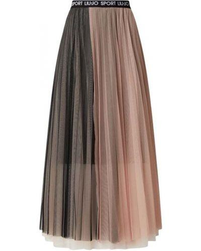 Spódnica rozkloszowana tiulowa - czarna Liu Jo Sport