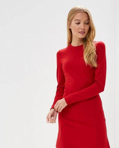 Платье красный осеннее Coclo