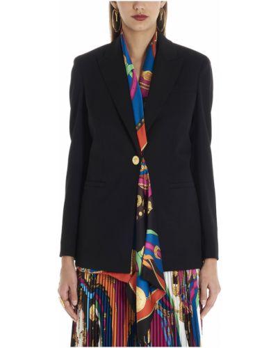 Czarny płaszcz Versace