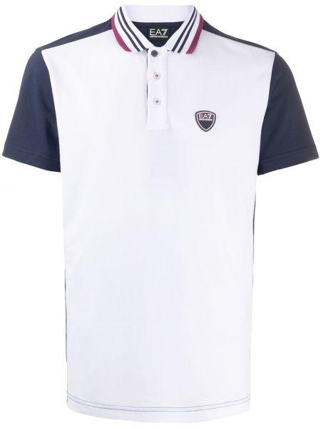 Koszula krótkie z krótkim rękawem klasyczna burgundia Ea7 Emporio Armani