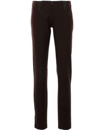 Зауженные брюки - коричневые Christopher Esber