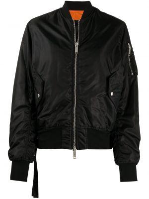 Классическая черная длинная куртка с воротником с карманами Unravel Project