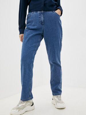 Зауженные джинсы - голубые Ulla Popken