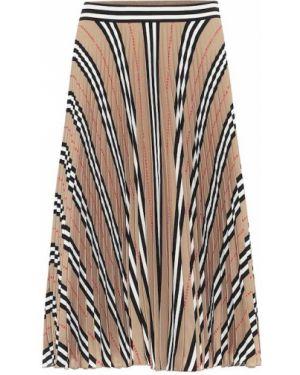 Плиссированная юбка с цветочным принтом пачка Burberry