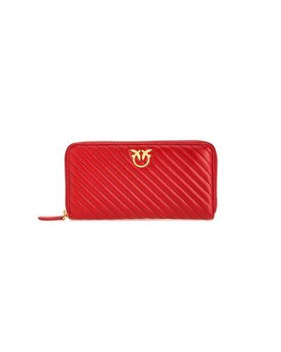 Złoty portfel pikowany Pinko