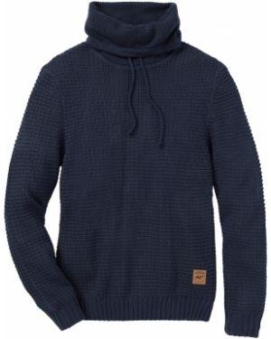 Пуловер с воротником с воротником-стойка Bonprix