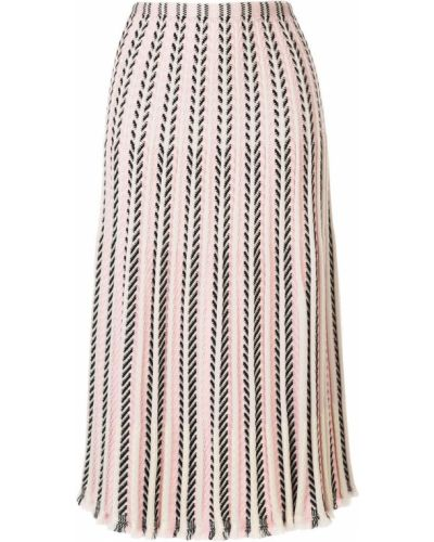 Розовая вязаная юбка Molli