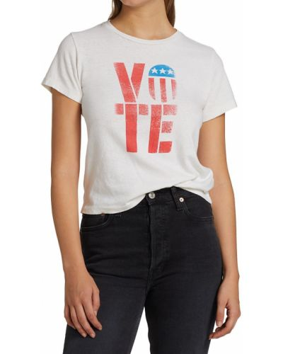 T-shirt bawełniana - biała Re/done