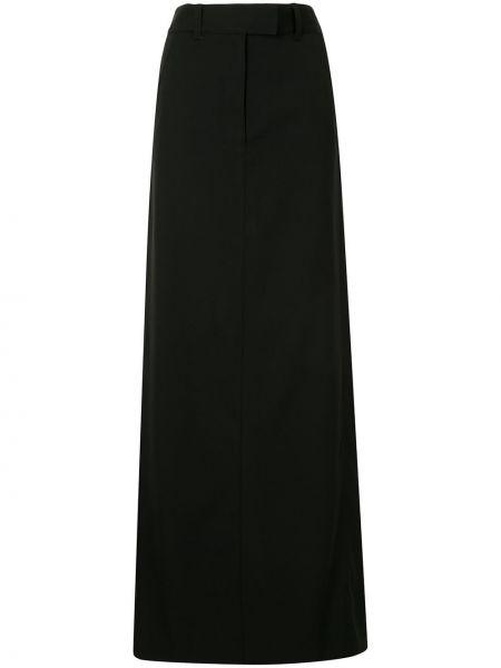 Шерстяная юбка макси - черная Vera Wang