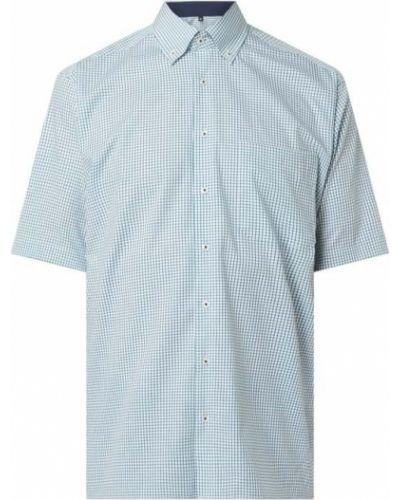 Koszula w kratę krótki rękaw bawełniana Eterna