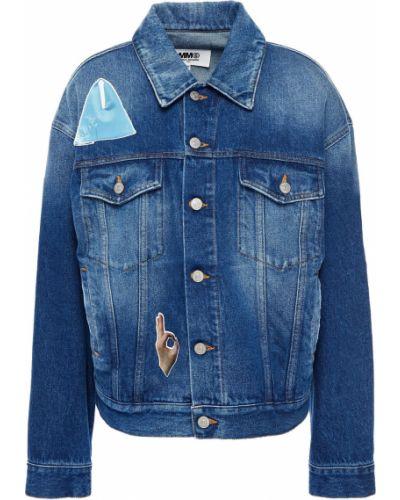 Хлопковая джинсовая куртка - синяя Mm6 Maison Margiela