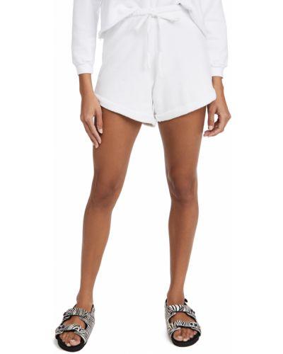 Хлопковые белые шорты на резинке Lna