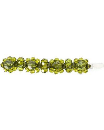 Заколка с камнями - зеленая Simone Rocha