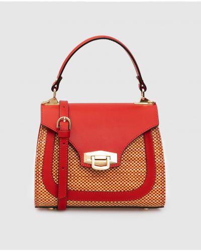 Соломенная сумка - красная Gianni Notaro