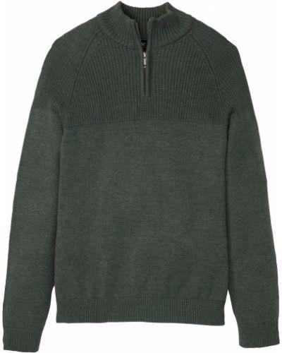 Зеленый пуловер Bonprix