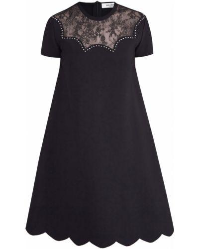 Платье мини с цветочным принтом на молнии Valentino