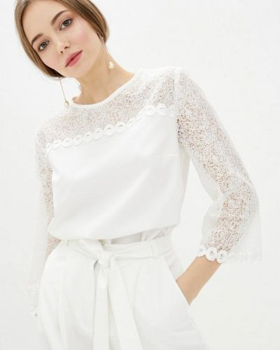 Белая блузка с длинными рукавами Zubrytskaya