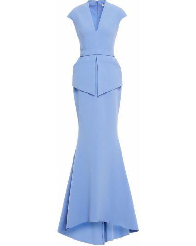 Niebieska sukienka z paskiem Safiyaa