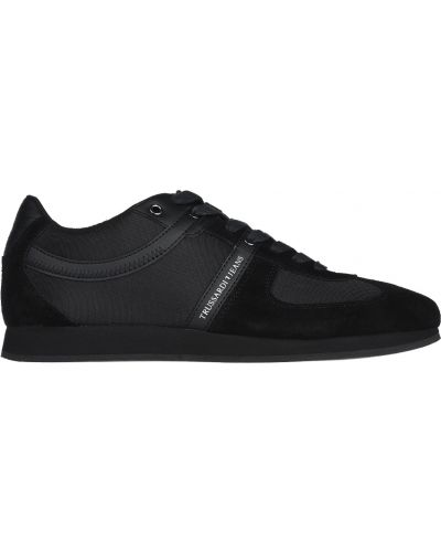 Черные кроссовки замшевые Trussardi Jeans