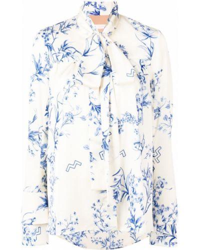 Блузка с длинным рукавом с бантом с воротником-стойкой Ssheena