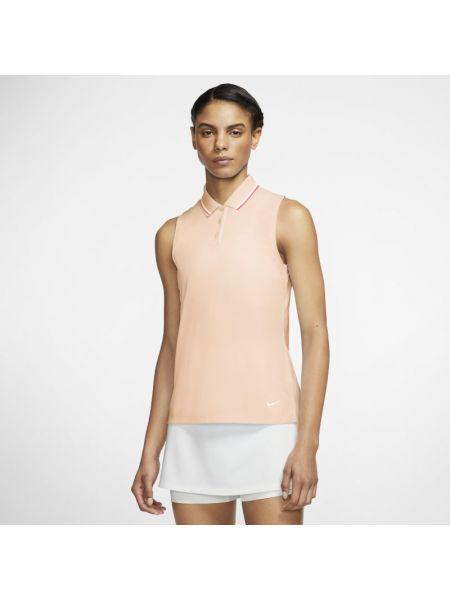 T-shirt bez rękawów - pomarańczowa Nike