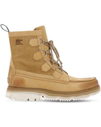 Кожаные ботинки со шнуровкой Sorel