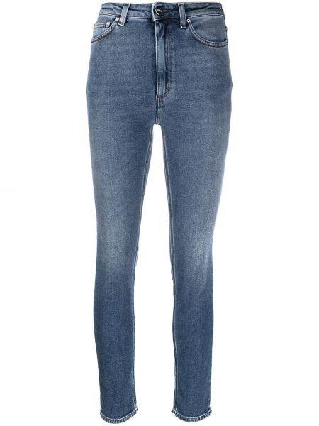 Klasyczne niebieskie jeansy z wysokim stanem Toteme