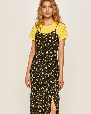 Sukienka midi koktajlowa dżinsowa Calvin Klein Jeans