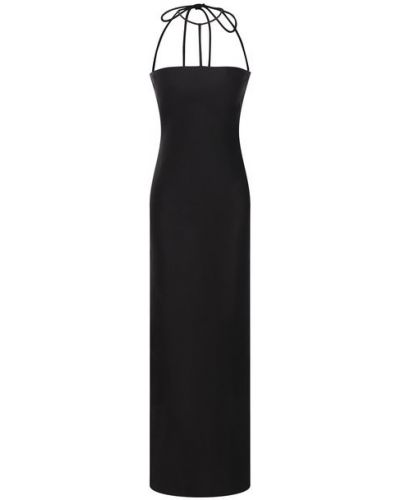 Платье из вискозы - черное Rejina Pyo