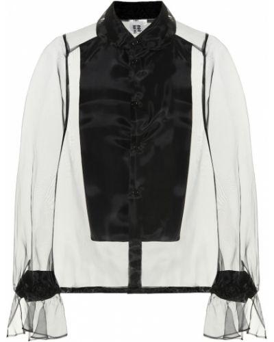 Bluzka czarna organza Noir Kei Ninomiya