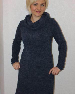 Платье из ангоры синее инсантрик