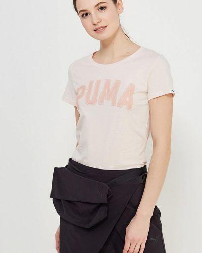 Розовое поло спортивное Puma