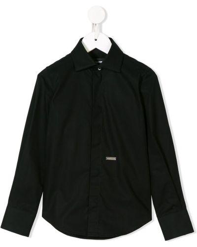 Черная рубашка Dsquared2 Kids