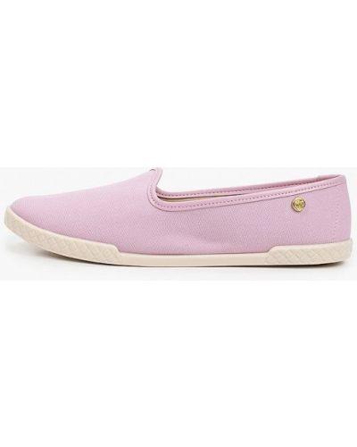 Фиолетовые текстильные слипоны Moleca