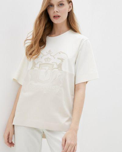 Бежевая футболка с короткими рукавами Trussardi