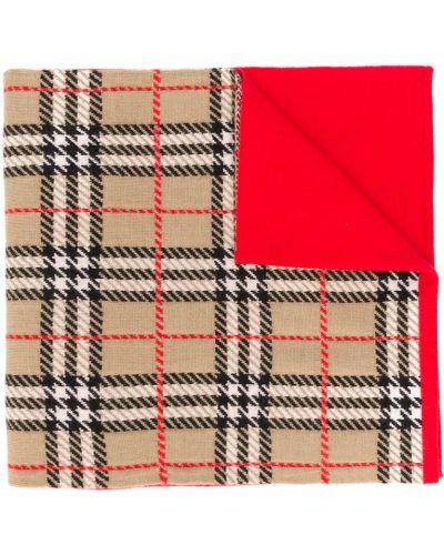 Шерстяной красный шарф винтажный Burberry Kids