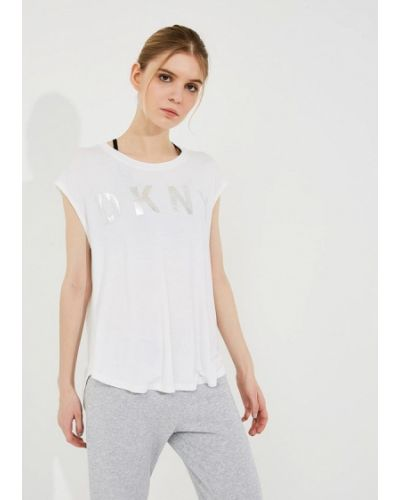Белая футболка Dkny