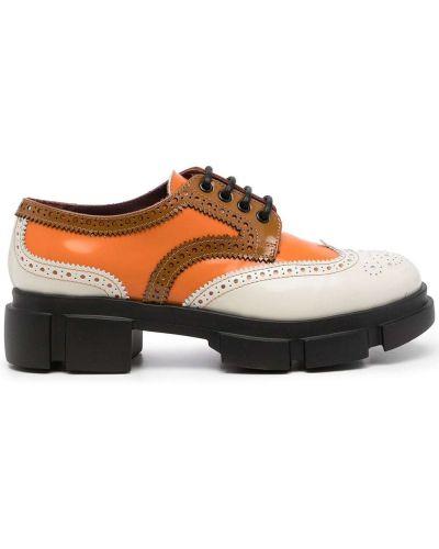 Оранжевые кожаные броги Antonio Marras
