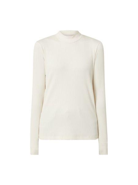 Bawełna bawełna beżowy bluzka z długim rękawem wąskie cięcie Calvin Klein Jeans