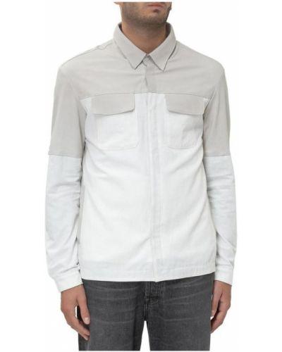 Biała kurtka skórzana Giorgio Brato