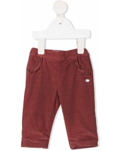 Прямые терракотовые прямые брюки с накладными карманами с заплатками Tartine Et Chocolat