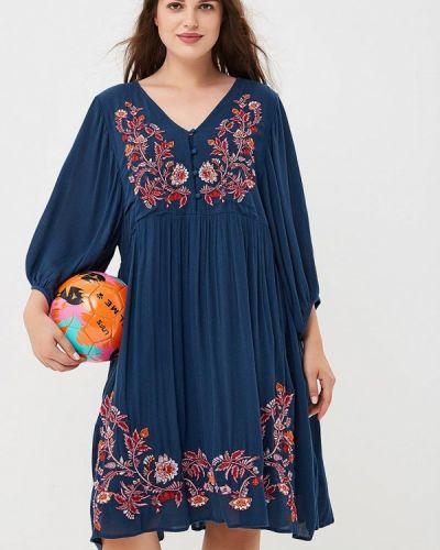 Синее летнее платье Junarose
