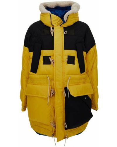 Żółty płaszcz Sacai