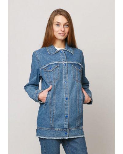 Джинсовая куртка весенняя синий Dasti