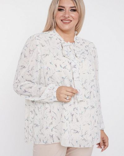 Белая блузка с бантом Luxury Plus